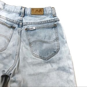 LEE Vintage Jean Shorts Bleached High Waist
